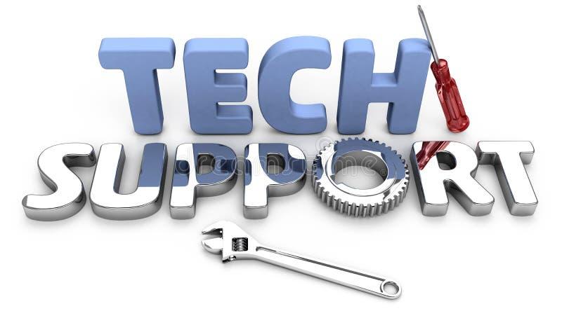 Atención al cliente para las preguntas de la tecnología ilustración del vector