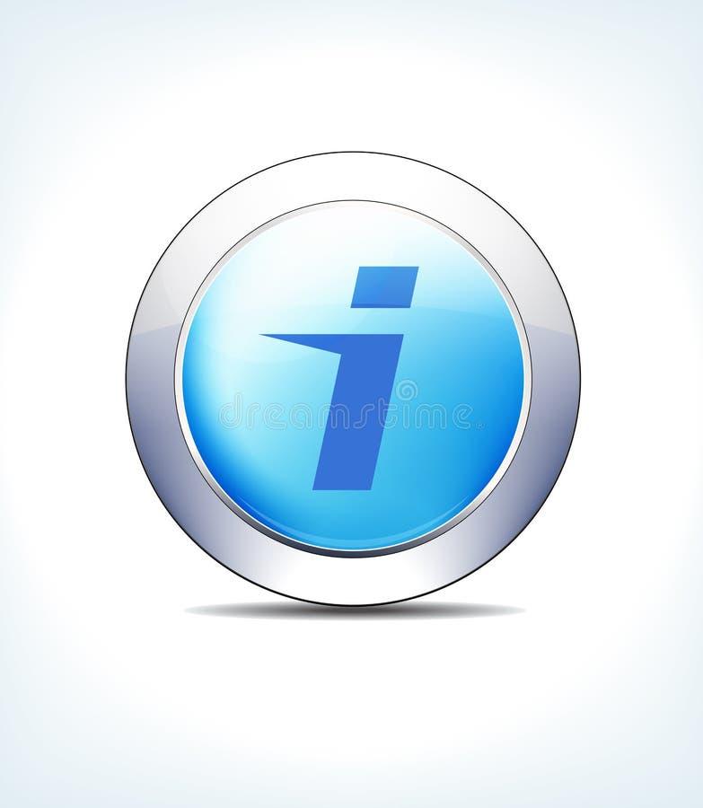 Atención sanitaria azul de la información del hospital del botón del icono y presentaciones farmacéuticas ilustración del vector