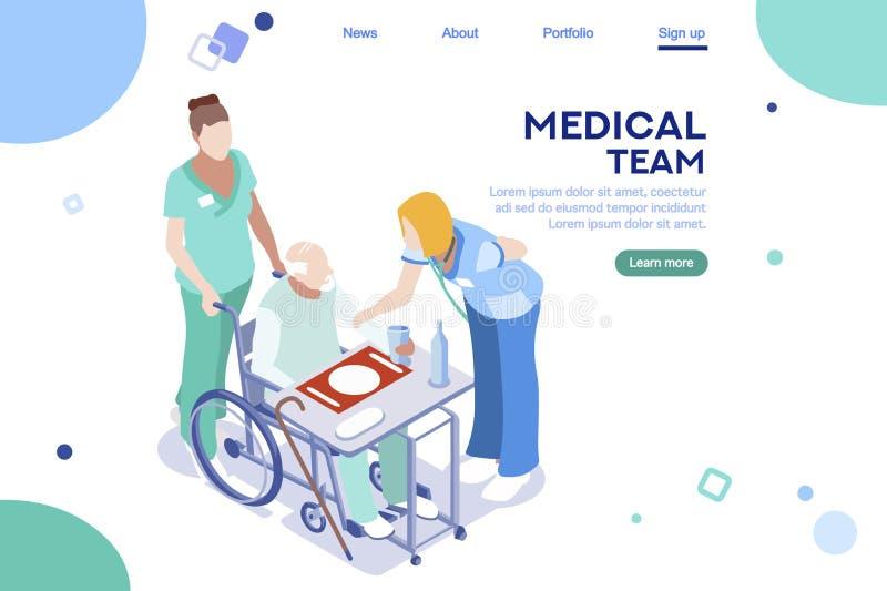 Atención sanitaria de la colección del interfaz del hospital de la salud libre illustration