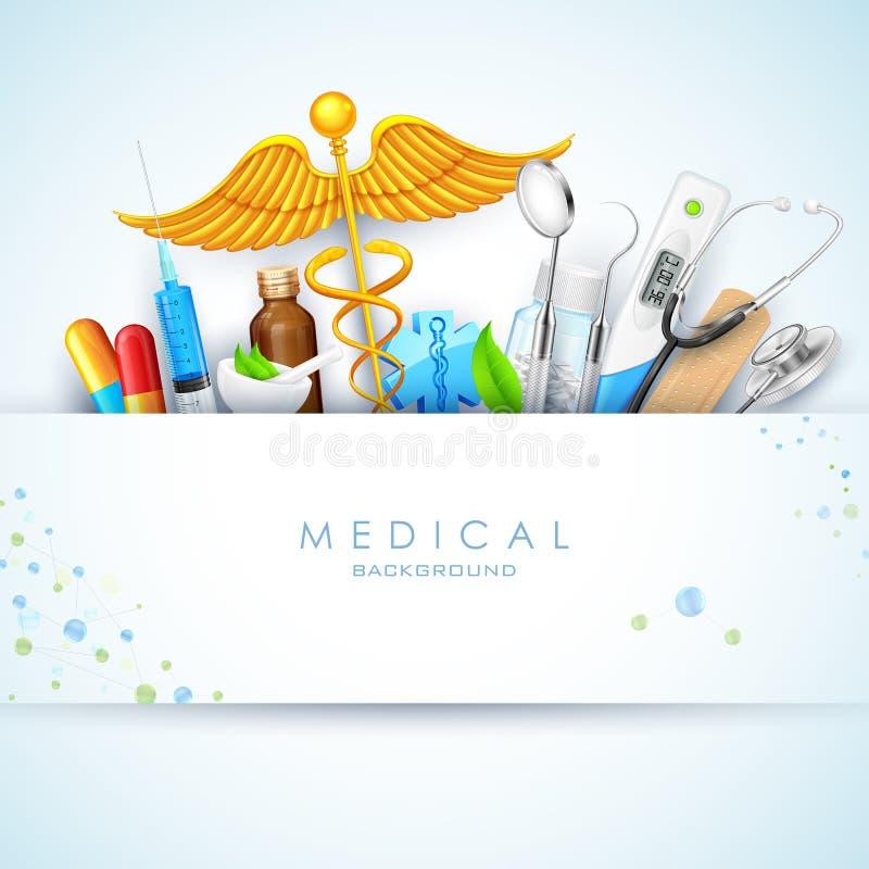 Atención sanitaria y fondo médico ilustración del vector