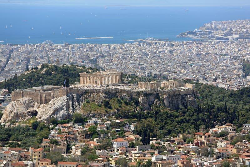 AtenCityscape Grekland royaltyfri foto