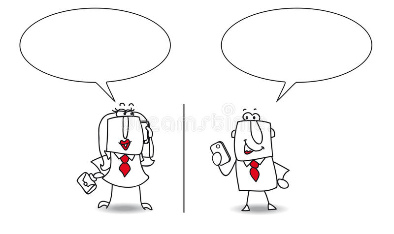 Atendimento de telefone ilustração stock