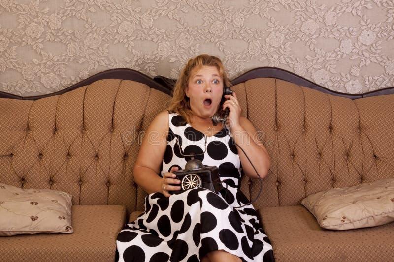 Atendimento de telefone choc imagens de stock royalty free