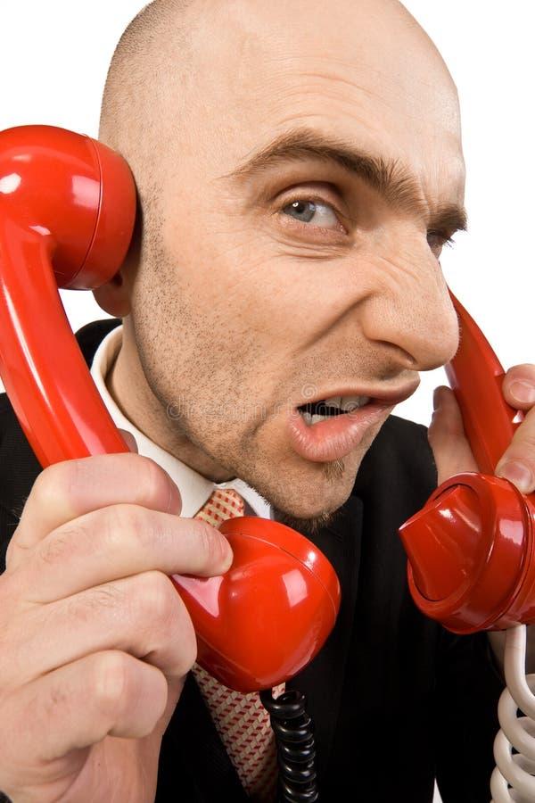 Atendimentos de telefone irritantes imagem de stock royalty free