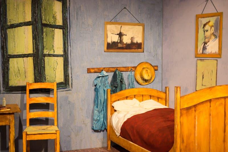 Atene, Grecia 25 Novembre 2017 Anno Mostra Van Gogh Alive L ...