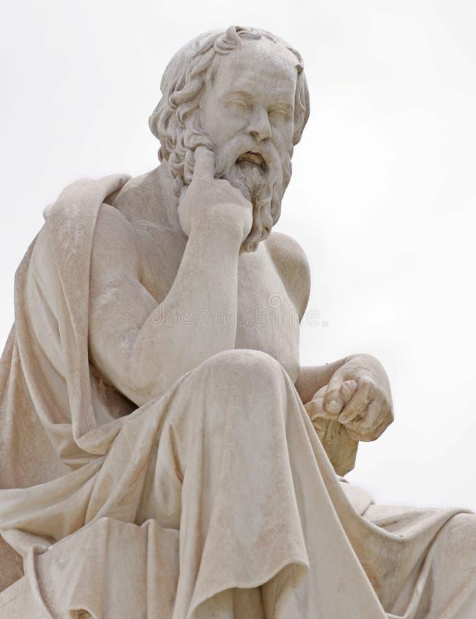 Atene Grecia, Socrates la statua antica del filosofo immagine stock libera da diritti