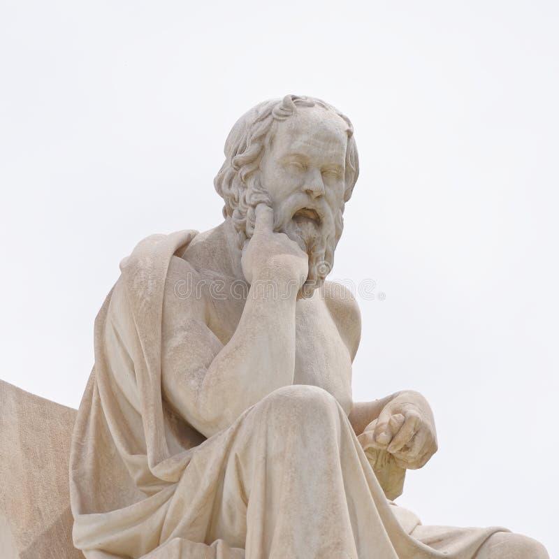 Atene Grecia, Socrates la statua antica del filosofo fotografie stock