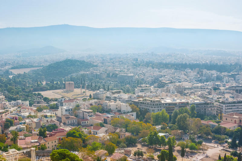 Atene moderna immagine stock libera da diritti