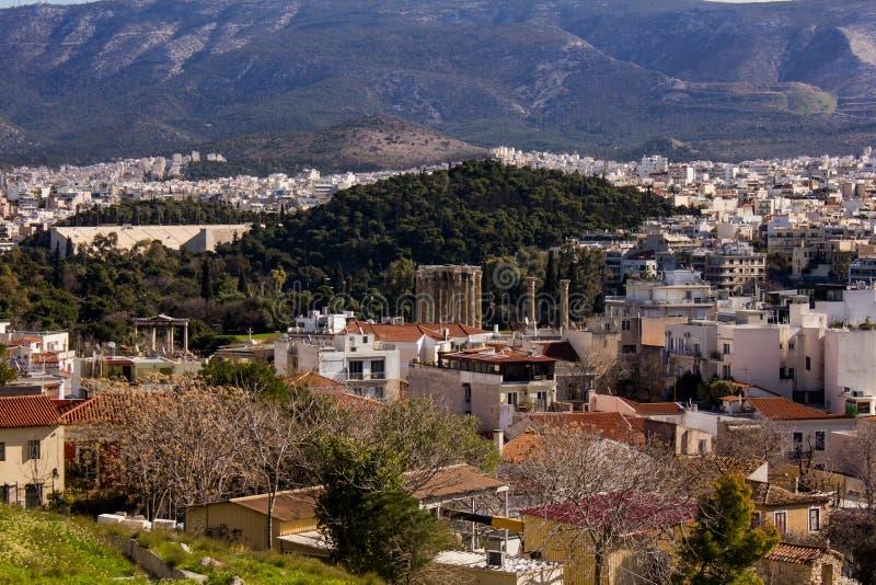 Atene - vista parziale fotografia stock libera da diritti
