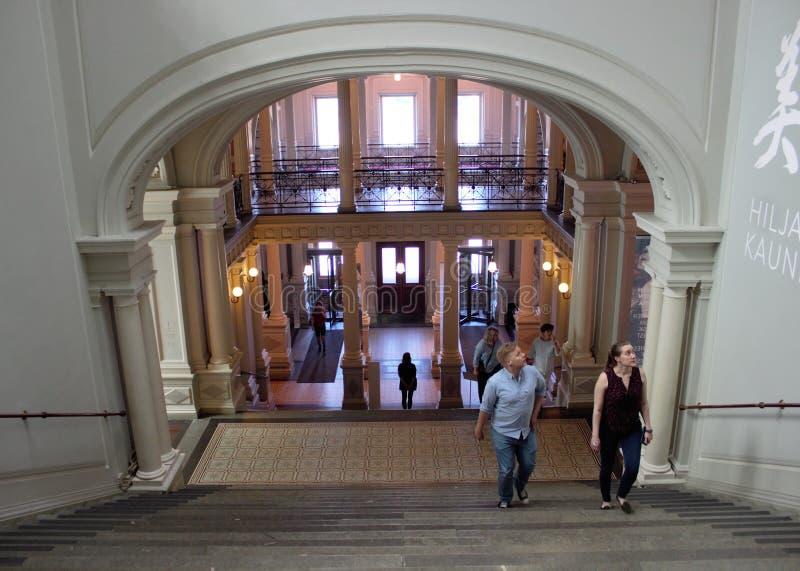 Ateneum Art Museum in Helsinki, Finland. Helsinki, Uusimaa/Finland - June 28, 2019: Interior photo from the Ateneum Art Museum in Helsinki, Finland royalty free stock image