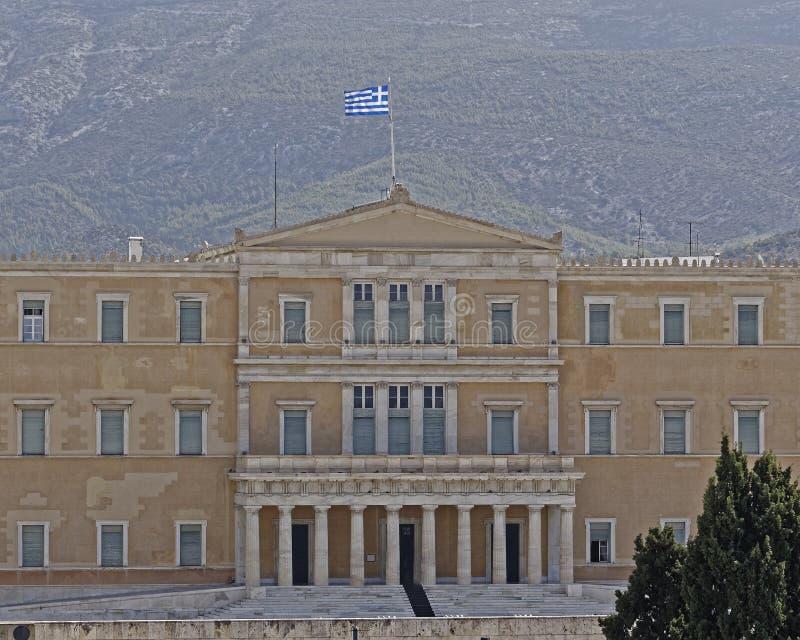 Ateny Grecja parlamentu narodowego neoklasyczny budynek na syntagma kwadracie zdjęcie stock