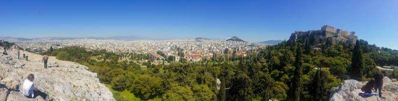 Ateny panorama obraz royalty free