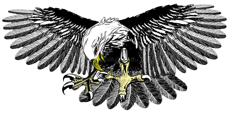 Aterragem da águia ilustração royalty free