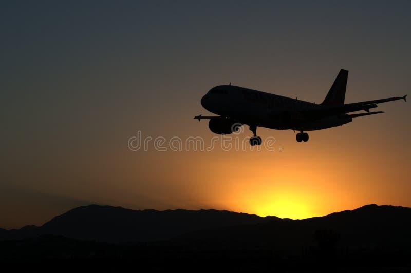 Aterragem de aviões foto de stock