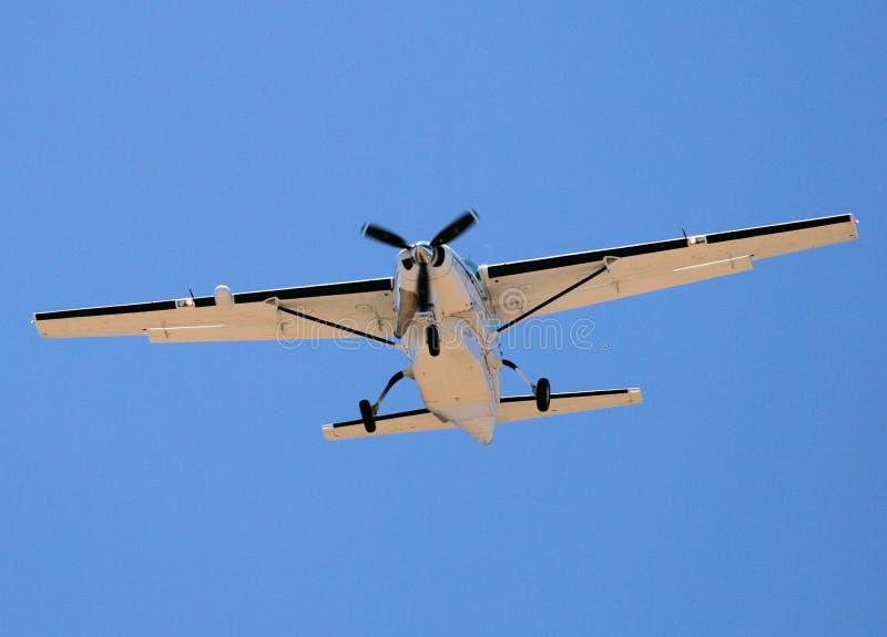 Aterragem de aviões fotografia de stock