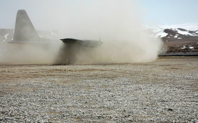 Aterragem em Afeganistão fotografia de stock royalty free
