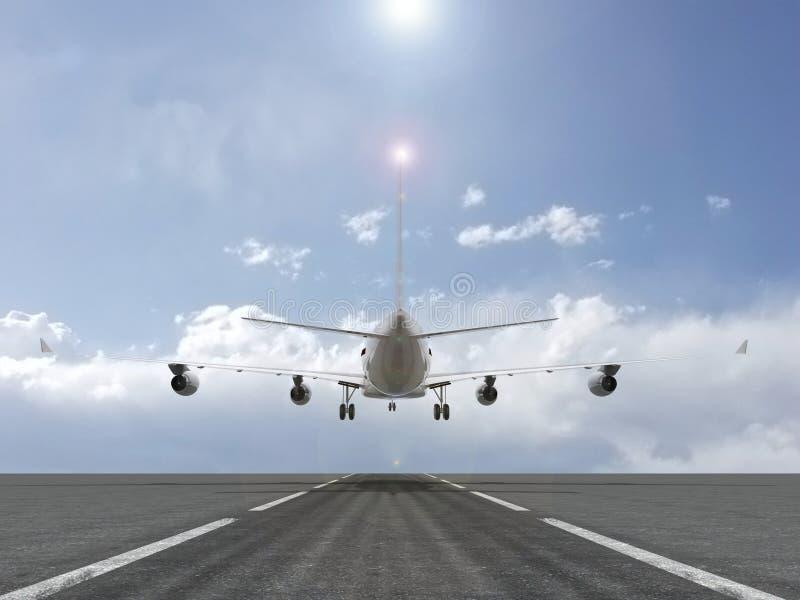 Aterragem plana ilustração royalty free