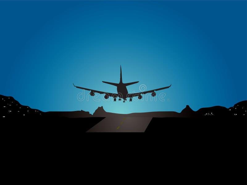 Aterragem plana ilustração stock