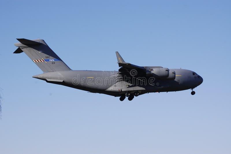 Aterragem plana militar imagem de stock royalty free