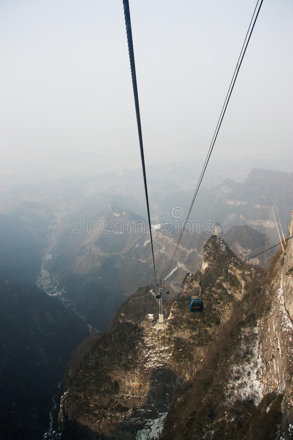 Aterrice la opinión del scape tien mansan en zhangjiajie foto de archivo libre de regalías