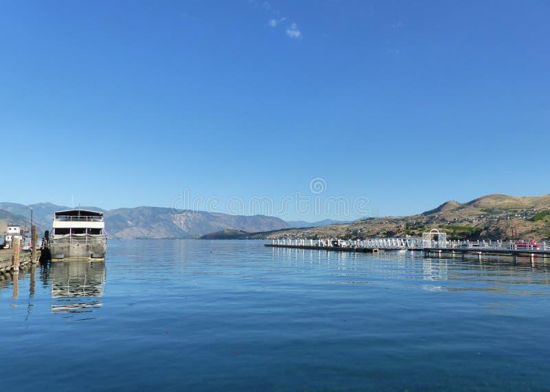 Aterrissagem do barco de Chelan do lago, Chelan, WA imagem de stock royalty free