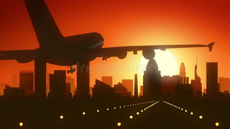 Aterrissagem do nascer do sol da skyline de Los Angeles Califórnia EUA América imagem de stock