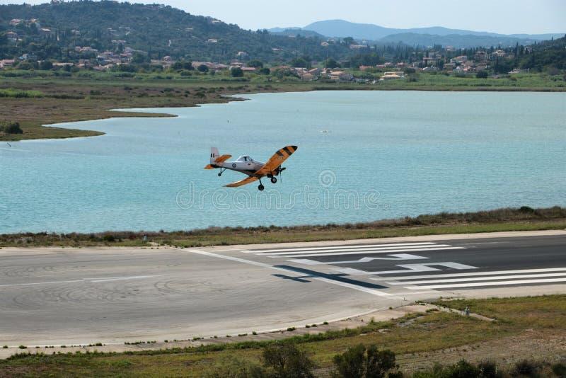 Aterrissagem plana dos sapadores-bombeiros imagens de stock