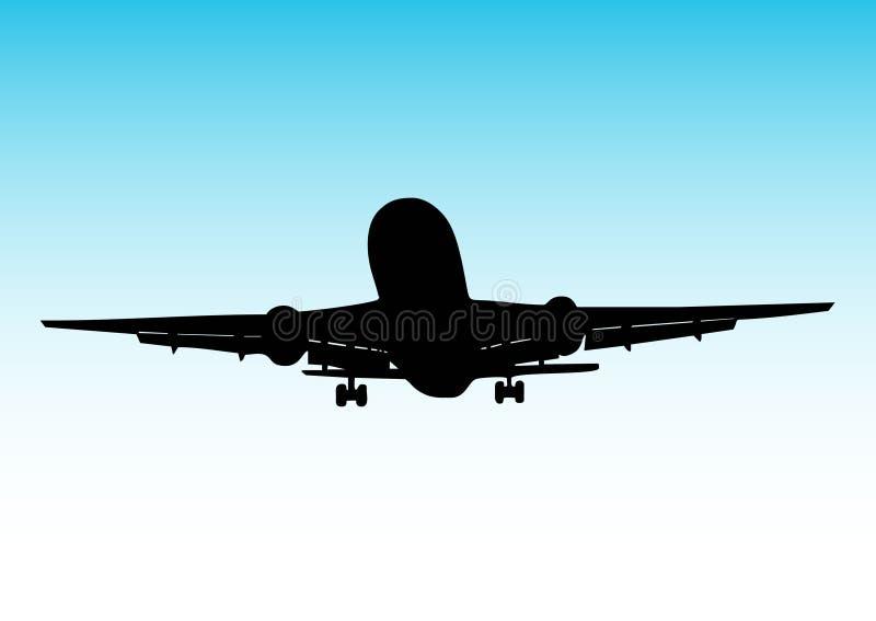 Aterrizaje de aeroplano stock de ilustración