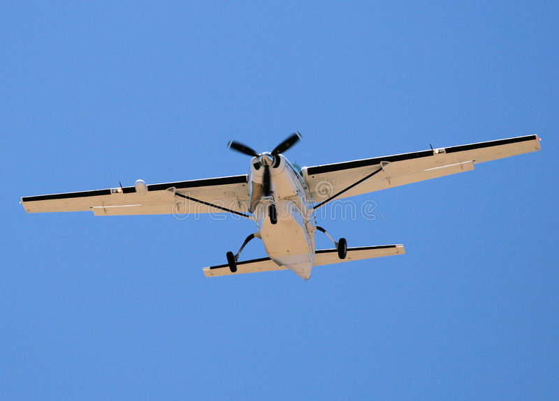 Aterrizaje de aviones fotografía de archivo