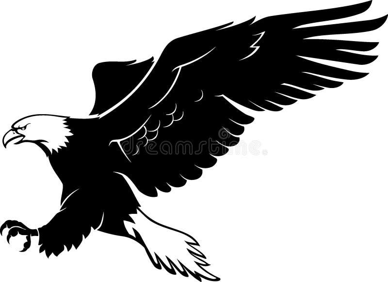 Aterrizaje del águila calva stock de ilustración