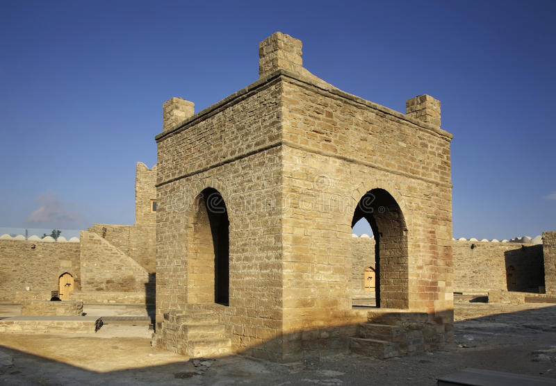 Ateshgah de Baku (templo do fogo em Suraxanı) azerbaijan foto de stock