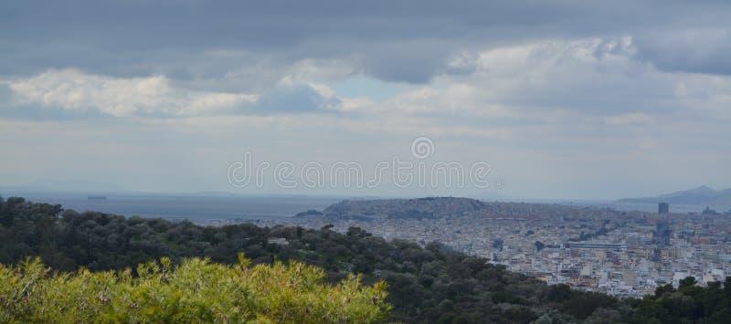 Athènes de la vue d'Acropole images libres de droits
