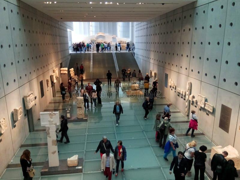 Athènes, Grèce - 18 mai 2017 : Intérieur du musée d'Acropole à Athènes photographie stock libre de droits