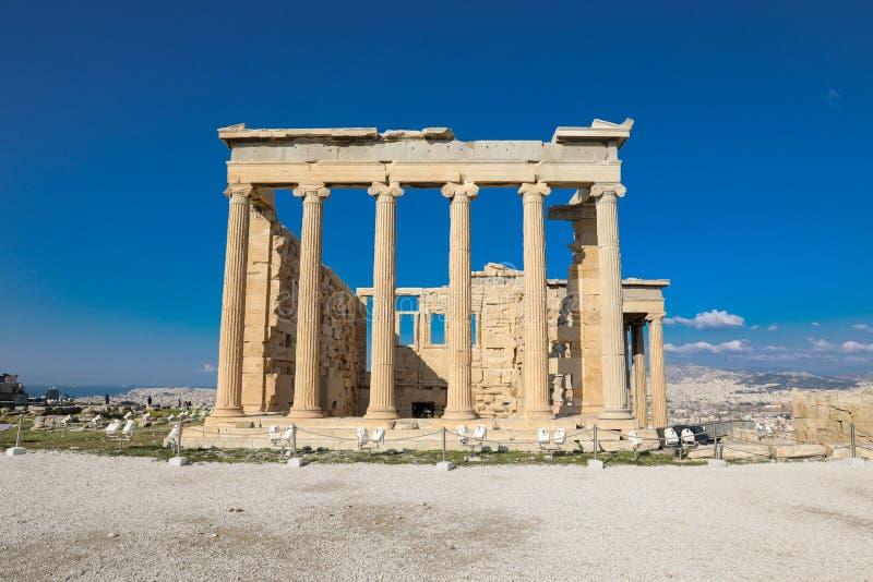 Athènes, Grèce - 14 mars 2017 : Le vieux temple d'Athéna sur l'Acropole d'Athènes, Grèce photo stock
