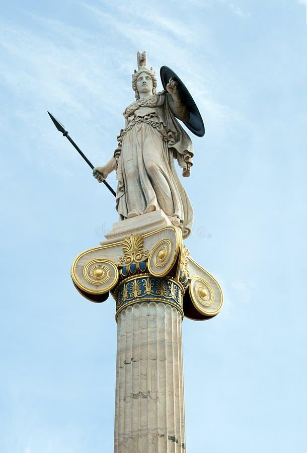 Athéna, la déesse des Grecs anciens de l'effort et de la sagesse héroïques photos libres de droits