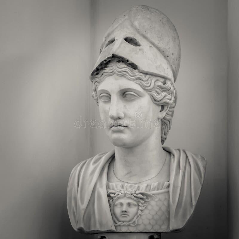 Athéna la déesse du grec ancien image stock