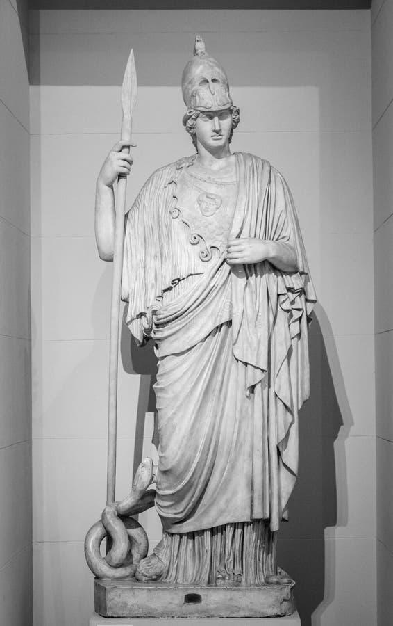 Athéna la déesse du grec ancien images stock