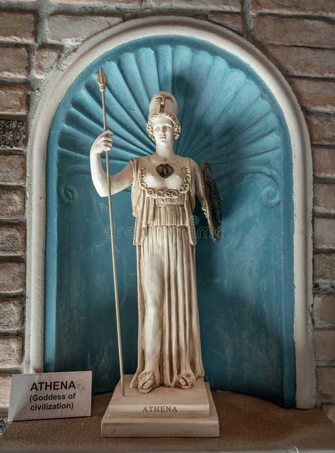 Athéna la déesse du grec ancien image libre de droits
