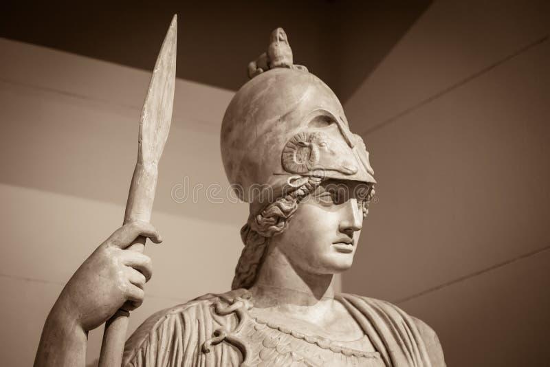 Athéna la déesse du grec ancien photographie stock libre de droits