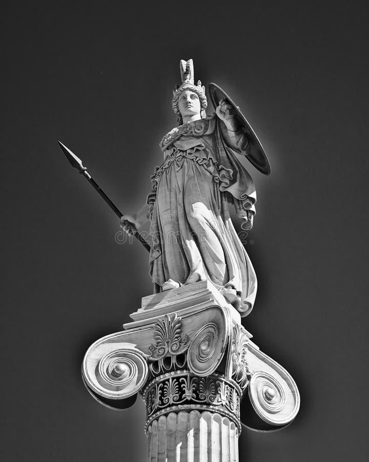Athéna la statue de déesse du grec ancien image stock
