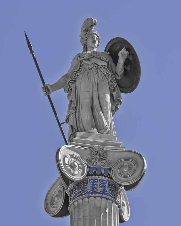 Athéna la statue de déesse du grec ancien photographie stock
