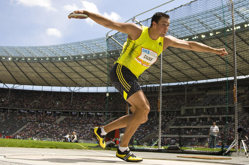 ATH: Berlin Golden League Athletics. June 14 2009; Berlin Germany. Erik CADEE (NED) competing in the at the DKB ISTAF 68 International Stadionfest Golden League royalty free stock image