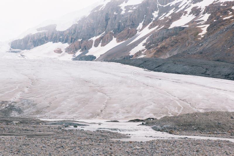 Athabasca冰川底部 库存照片