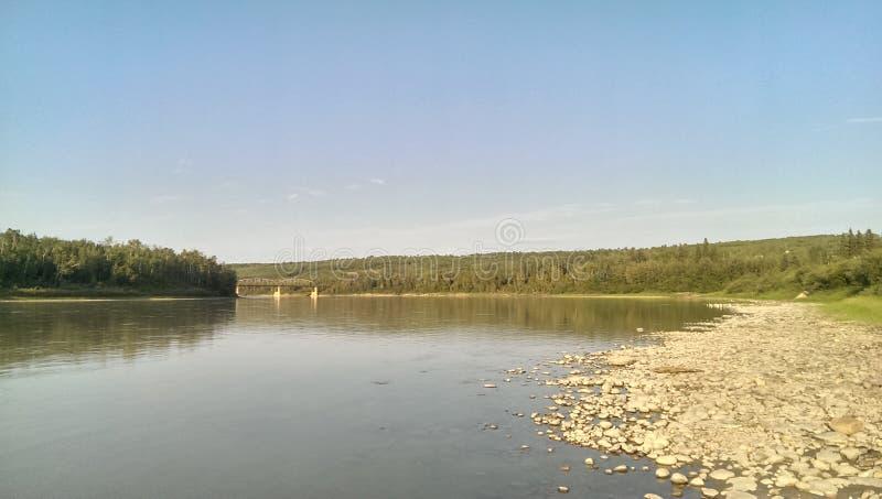 Athabasca-Fluss 5 stockbild