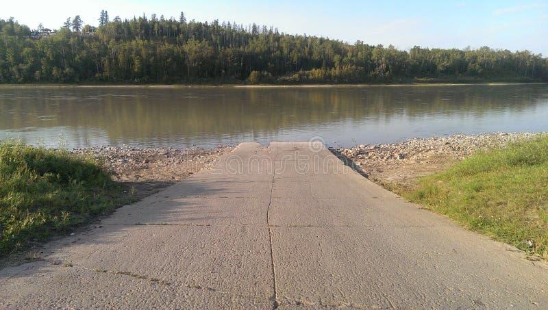 Athabasca-Fluss 2 lizenzfreies stockfoto