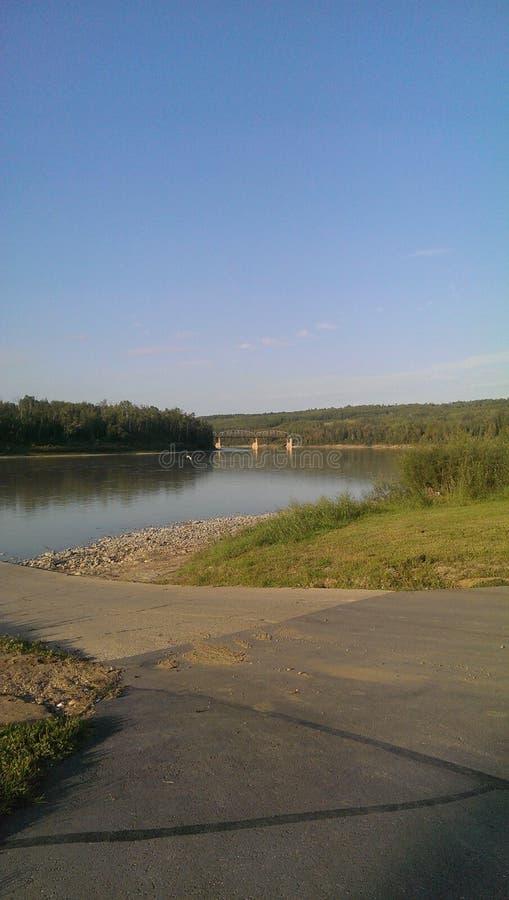 Athabasca-Fluss park8 lizenzfreie stockfotografie