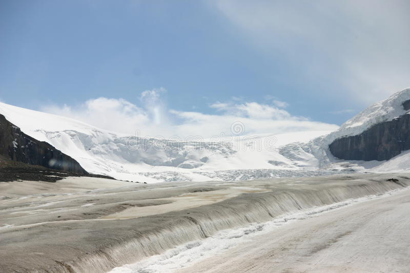 Athabasca Glacier stock image