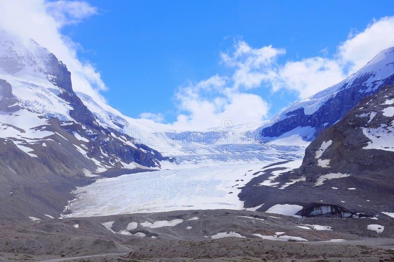 Athabascagletsjer - een deel van Colombia Icefield royalty-vrije stock afbeelding