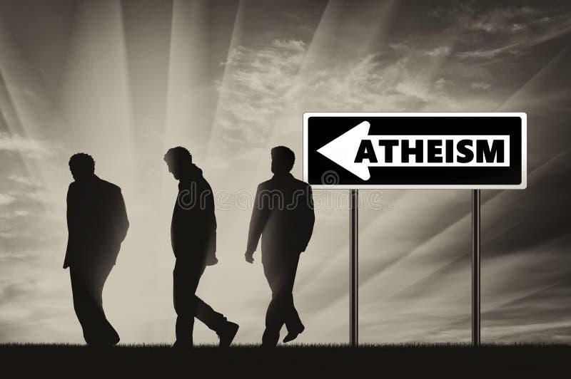 atheism Ateos tres hombres imagenes de archivo