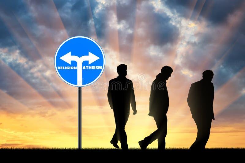 atheism Drie mensenatheïsten royalty-vrije stock afbeelding